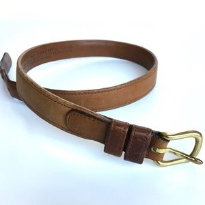 Coach | Brown Leather Belt with Brass Buckle #110